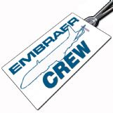 Embraer E-Jet (outline) Crew Tag